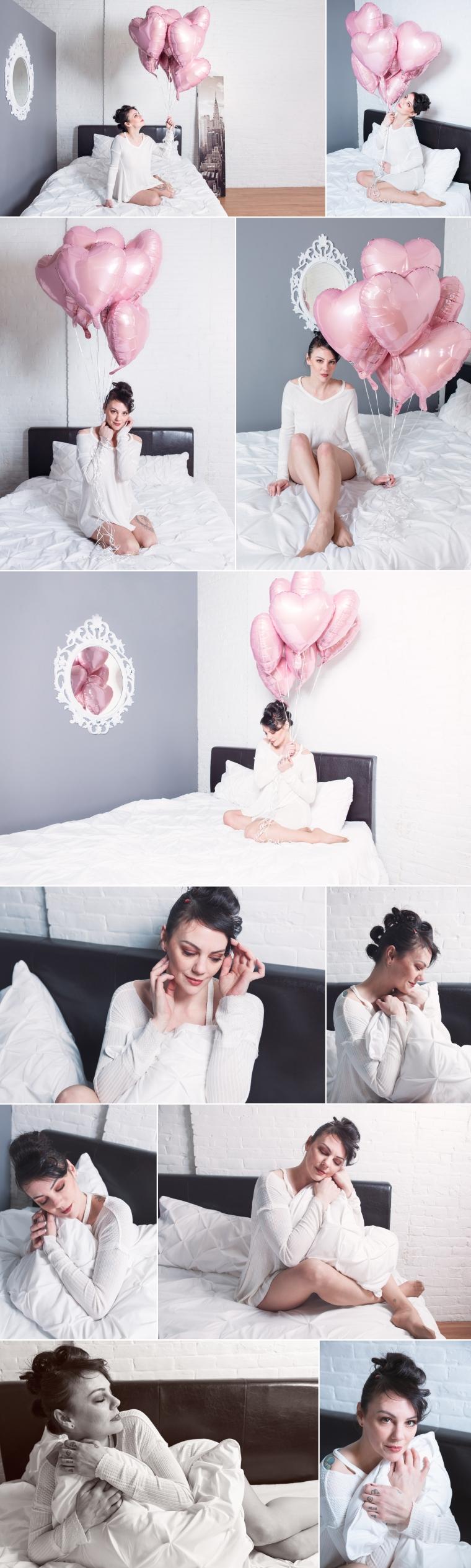 Pink Heart Balloons Boudoir